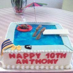 Jell-o pool cake is too cute!
