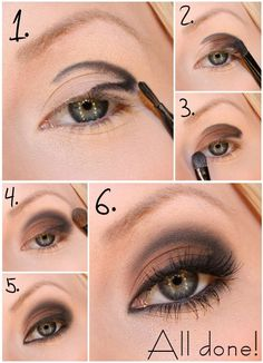 Learn how to make a perfect smoky eye makeup - Soy Moda Step By Step: Natural Makeup For Your Day To Day - Make-Up, (step by step) B # step hair and beauty . Eye Makeup Tips, Love Makeup, Skin Makeup, Smokey Eye Makeup, Makeup Brushes, Makeup Looks, Makeup Ideas, Makeup Tutorials, Makeup Eyeshadow