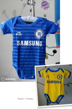 3d77370cf Baby Boy Soccer, Football Baby, Baby Jumper, Soccer Outfits, Chelsea Fc, Baby  Shirts, Baby Bodysuit, Bb, Football Outfits