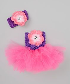 Bride and Babies Purple Flower Tutu Dress & Headband - Infant & Toddler Baby Couture, Infant Toddler, Toddler Girls, Little Miss, Purple Flowers, Tutu, Girl Outfits, Crochet Hats, Bride