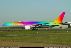 Rainbow Airplane.  ❤