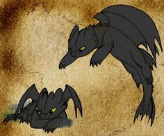 Baby Night Furies by Moose15 on deviantART