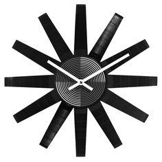 RECORD STAR CLOCK   vinyl clock, LP, recycled vinyl   UncommonGoods