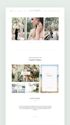 Lvy ii - A Clean & Elegant photography website design, built by Jenrette Romberg – a fine-art, wedding & p - Design Websites, Web Design Projects, Simple Website Design, Website Design Inspiration, Layout Design, Page Design, Photography Website Design, Graphic Design Tools, Wordpress Theme Design