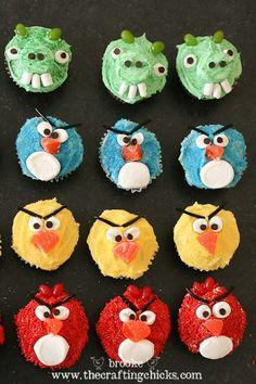 Angry Bird cupcakes!
