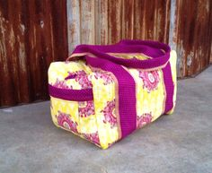 Purple & Gold Duffle Bag. Great gift for by alinebylaura on Etsy, $70.00