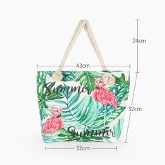 """Universe of goods - Buy """"Hot Sale Flamingo Printed Casual Bag Women Canvas Beach Bags High Quality Female Single Shoulder Handbags Ladies Tote for only USD. Flamingo Pattern, Flamingo Print, Pink Flamingos, Flamingo Beach, Owl Print, Flamingo Top, Womens Beach Bag, Sac Lunch, Woman Beach"""