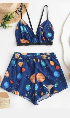 Cute Pajama Sets, Cute Pjs, Cute Pajamas, Teen Fashion Outfits, Mode Outfits, Girl Outfits, Style Fashion, Ad Fashion, Fashion Edgy