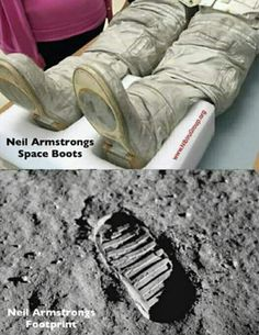 As botas de Armstrong vs. a pegada na lua - Archaeology - Humor Aliens And Ufos, Ancient Aliens, Ancient History, Weird Facts, Fun Facts, Area 51 Facts, Terre Plate, Creepy, Scary