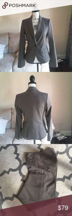 Express Editor Suit Pants and Jacket 6 Express Suit is taupe.  Like new condition, worn just for time for an interview!  Jacket is a 6 and pants are 6L Express Pants Trousers