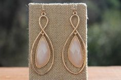 """Peach Roots - """"8"""" Shaped Nude Earrings, $8.75 (http://peachroots.com/8-shaped-nude-earrings/)"""