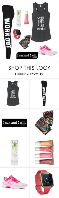 """Workout"" by taketheidea ❤ liked on Polyvore featuring WearAll, G-Loves, Reebok and Fitbit"