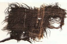 Iron Age woven cloth from the Hallstatt salt mines ~ Courtesy of Natural History Museum, Vienna.