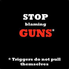 Blame the shooter and be thankful if someone with a gun is nearby to stop them.
