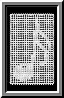 filet crochet ~ free pattern ᛡ Graph Crochet, Filet Crochet Charts, Crochet Motifs, Tunisian Crochet, Afghan Crochet Patterns, Crochet Squares, Thread Crochet, Crochet Doilies, Crochet Stitches
