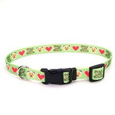 NEED -  Petco Love Rescue Peace Nylon Green Adjustable Dog Collar