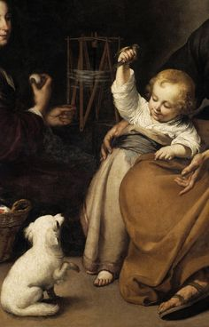"""""""The Holy Family with a Little Bird"""" (detail), c.1650, Bartolomé Murillo."""