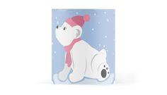 Let It Snow! (Polar Bear Cub) Mug #polar #bear #animals #snow #christmas