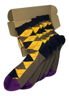 Fun Selection of Socks in Bold, Bright, Colorful Patterns. ***** RATED, Make your sole happy with these amazing socks. What To Wear To A Wedding, Argyle Socks, Colorful Socks, Dress Socks, Cotton Socks, Yellow And Brown, Groomsmen, Fashion Dresses, Men's Fashion