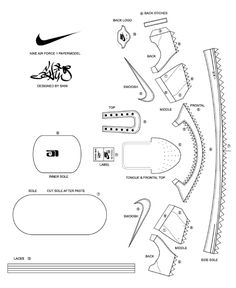 Blog Paper Toy papercraft Nike AF1 template preview Nike Air Force 1 de Shin Tanaka