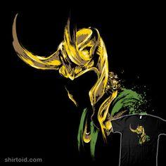 Prince of Mischief - Marvel Comics Loki T-Shirt - The Shirt List Marvel E Dc, Loki Thor, Loki Laufeyson, Tom Hiddleston Loki, Marvel Heroes, Marvel Avengers, Marvel Comics, Loki Fan Art, Asgard
