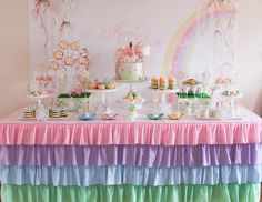 Enchanted Pastel Rainbow Fairy Party