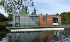 80 Best Houseboats Images Houseboats Floating House Water House - Tafoni-prefab-floating-house-is-motivated-by-the-california-coast