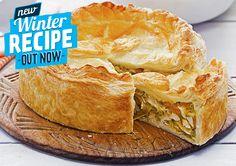 Chicken and Leek Pie recipe - Easy Countdown Recipes Easy Pie Recipes, Gourmet Recipes, Cooking Recipes, Healthy Recipes, Free Recipes, Healthy Food, Chicken And Leak Pie, Cooked Chicken, Leek Pie
