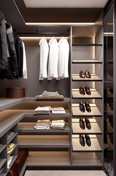 on Behance Room Design Wardrobe Design Bedroom, Master Bedroom Closet, Bedroom Wardrobe, Wardrobe Closet, Dressing Room Closet, Dressing Room Design, Dressing Rooms, Walk In Closet Design, Closet Designs