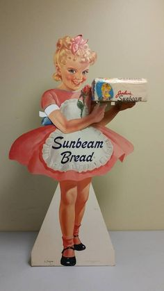 Vintage Sunbeam Bread stand-up sign