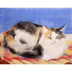 RESERVED for SUSAN Watercolor Painting Custom Pet by LaBerge