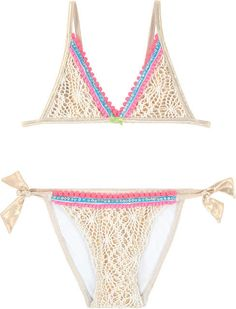 303daca3e4 Shein Striped Halter Top With Ruffle Trim Bikini