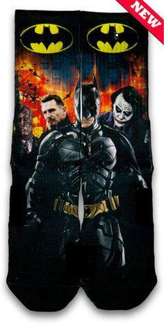 Batman Nike Custom Elite Socks