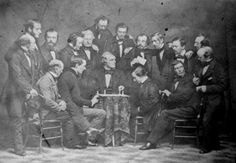 Participants of the First American Chess Congress posing for a group portrait, New York City, November 1857.