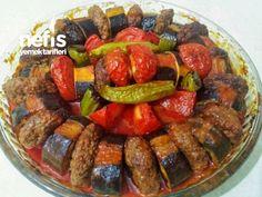 Nefis Patlıcan Kebabı Turkish Recipes, Italian Recipes, Ethnic Recipes, Buffalo Chicken, Turkish Kitchen, Kebab, Fish And Meat, Fresh Fruits And Vegetables, Iftar
