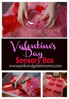 * Valentine's Day Themed Sensory Rice Box With Scented Pink Rice