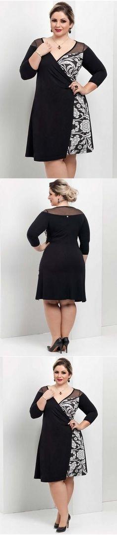 Plus Size Fashion Vestidos Plus Size, Plus Size Dresses, Plus Size Outfits, Curvy Outfits, Fashion Outfits, Womens Fashion, Moda Fashion, Curvy Girl Fashion, Plus Size Fashion