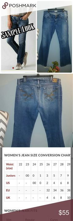 BKE Jeans Great shape, only wear is on the very bottom but goes with the look of the jeans. Star 18. 33 x 33 1/2 BKE Jeans