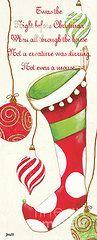 Christmas Art - Twas the Night...2  by Debbie DeWitt