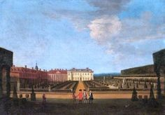 It's About Time: 06/05/15  Peter Tillemans (Flemish artist, 1684–1734) A View of the Garden and Main Parterre of Winchendon House, Buckinghamshire, from the East, with Figures in the Foreground.
