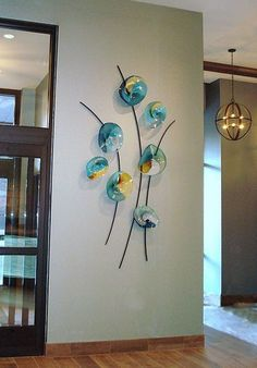 Glass art Sculpture Dale Chihuly - - - Glass art For Kids - Glass art Design Blue - Stained Glass art Door Broken Glass Art, Sea Glass Art, Glass Wall Art, Stained Glass Art, Metal Wall Art, Mosaic Glass, Fused Glass, Art Decor, Decoration