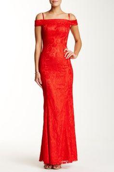 Off Shoulder Long Lace Dress