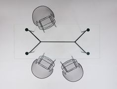 aracne table + arkys chair   designed by Jean-Marie Massaud   photography - Simona Pesarini
