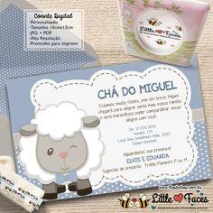 Convite Chá de Bebê Menino Carneirinho Digital