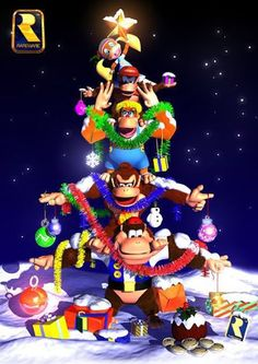 Look at donkey bitch ass being all kewt with his fam from donkey kong 64 Nintendo 64, Super Nintendo, Nintendo Switch, Donkey Kong 64, Donkey Kong Country, Retro Video Games, Video Game Art, Metroid, Super Smash Bros
