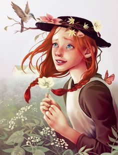 Anne Shirley- Anne of Green Gables Anne Shirley, Amybeth Mcnulty, Gilbert And Anne, Anne White, Gilbert Blythe, Anne With An E, Fake Girls, Cuthbert, Fan Art