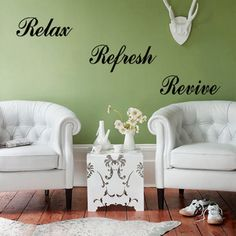 Relax Refresh Revive Words Room Decal Home Decor Wall Sticker