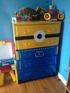 Minion dresser... Too cute!