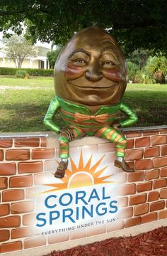 City of Coral Springs Humpty Dumpty Statue - Coral Springs Florida