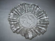 "Federal Glass Co. Pioneer Clear Round Crimped Bowl 7 1/4"" Discontinue 1940 by NANCYSANTIQUES on Etsy"